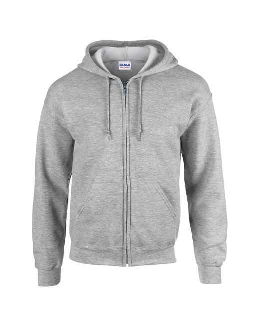 G186 Gildan Adult Heavy Blend™ 13.3 oz./lin. yd., 50/50 Full-Zip Hood