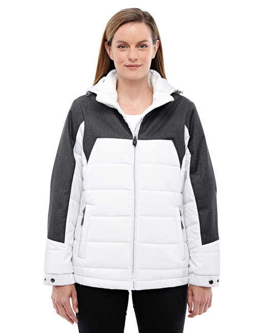 78232 North End Ladies' Excursion Meridian Insulated Jacket with Mélange Print