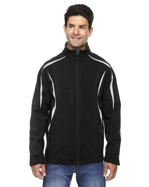88650 North End Men's Enzo Colorblocked Three-Layer Fleece Bonded Soft Shell Jacket