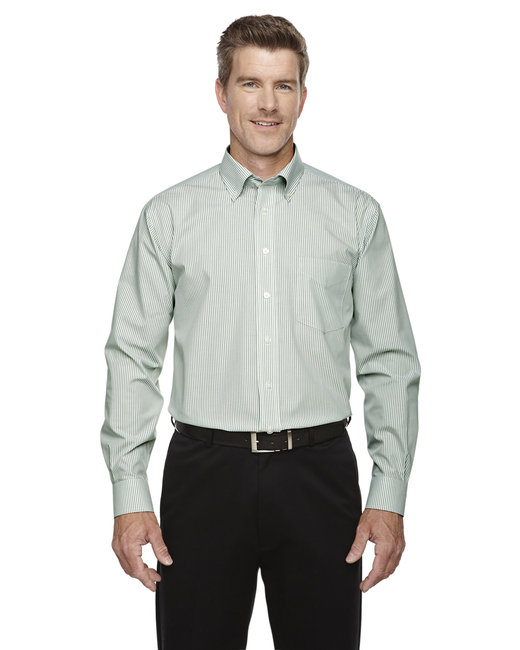 D645 Devon & Jones Men's Crown Woven Collection™ Banker Stripe