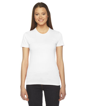 2102W American Apparel Ladies' Fine Jersey Short-Sleeve T-Shirt