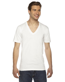 2456W American Apparel Unisex Fine Jersey Short-Sleeve V-Neck T-Shirt
