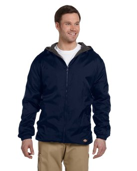 33237 Dickies Fleece-Lined Hooded Nylon Jacket