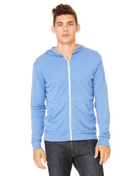 3939 Bella + Canvas Triblend Full-Zip Lightweight Hoodie
