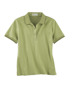 75033 Ash City - Il Migliore Ladies' Mercerized Textured Jacquard Polo