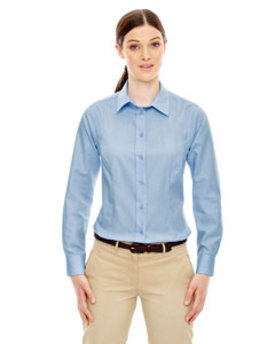 77028 Ash City - North End Ladies' Yarn-Dyed Wrinkle-Resistant Dobby Shirt