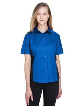 77042 Ash City - North End Fuse Colourblock Twill Shirt