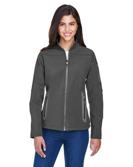 78060 North End Ladies' Three-Layer Fleece Bonded Soft Shell Technical Jacket