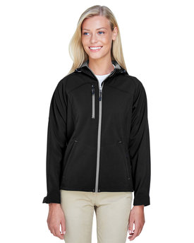 78166 North End Ladies' Prospect Two-Layer Fleece Bonded Soft Shell Hooded Jacket