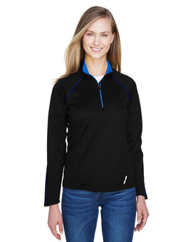 78187 Ash City - North End Ladies' Radar Half-Zip Performance Long-Sleeve Top