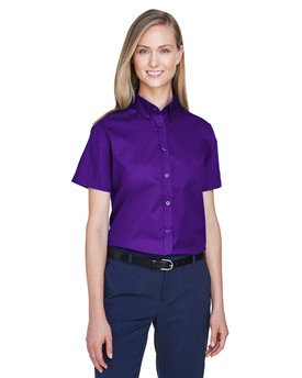 78194 Ash City - Core 365 Ladies' Optimum Short-Sleeve Twill Shirt