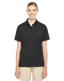 78222 Ash City - Core 365 Ladies' Motive Performance Piqué Polo with Tipped Collar