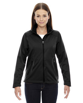 78655 North End Ladies' Splice Three-Layer Light Bonded Soft Shell Jacket with Laser Welding