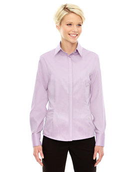 78689 Ash City - North End Refine Wrinkle-Free Two-Ply 80's Cotton Royal Oxford Dobby Taped Shirt
