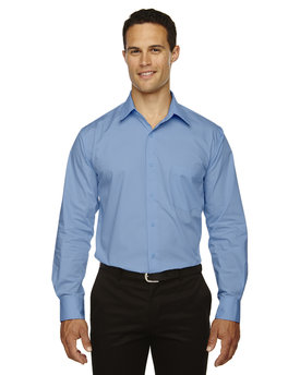 87037 Ash City - North End Men's Luster Wrinkle-Resistant Cotton Blend Poplin Taped Shirt