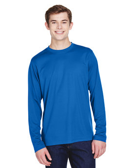 88199 Ash City - Core 365 Agility Performance Long-Sleeve Piqué Crew Neck