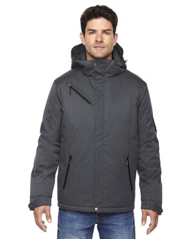 88209 Ash City - North End Rivet Textured Twill Insulated Jacket