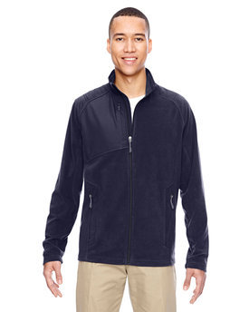 88215 North End Men's Excursion Trail Fabric-Block Fleece Jacket