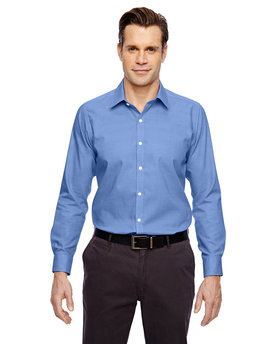 88690 Ash City - North End Sport Blue Precise Wrinkle-Free Two-Ply 80's Cotton Dobby Taped Shirt