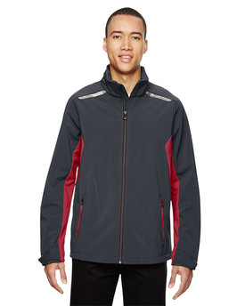 88693 North End Men's Excursion Soft Shell Jacket with Laser Stitch Accents