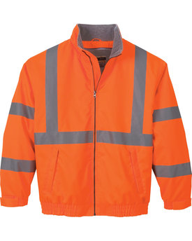 88705 Ash City - North End Men's Vertical Stripe Insulated Safety Jacket