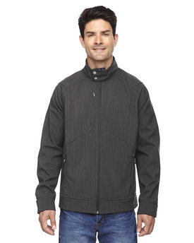 88801 Ash City - North End Sport Blue Skyscape Three-Layer Textured Two-Tone Soft Shell Jacket