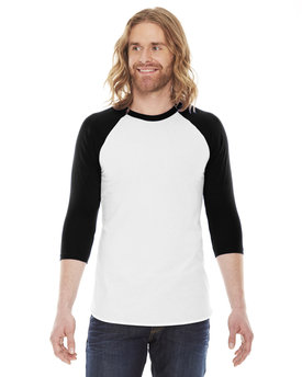 BB453 American Apparel Unisex Poly-Cotton 3/4-Sleeve Raglan T-Shirt