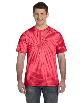 CD101 Tie-Dye Adult 5.4 oz., 100% Cotton Tie-Dyed T-Shirt - Spider