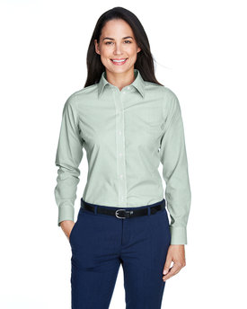 D645W Devon & Jones Ladies' Crown Woven Collection™ Banker Stripe