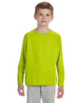 G424B Gildan Performance® Youth 7.5 oz./lin. yd. Long-Sleeve T-Shirt