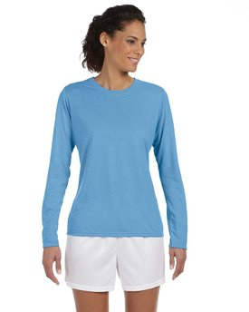 G424L Gildan Performance® Ladies' 7.5 oz./lin. yd. Long-Sleeve T-Shirt