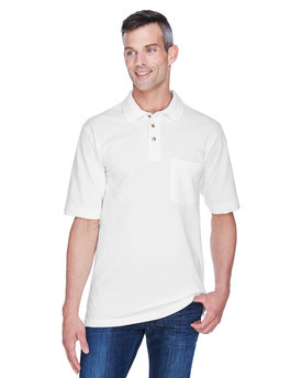M200P Harriton Adult 6 oz. Ringspun Cotton Piqué Short-Sleeve Pocket Polo