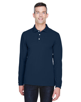 M265L Harriton 5.6 oz./yd2 Easy Blend™ Long-Sleeve Polo