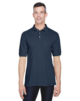 M265P Harriton 5.6 oz./yd2 Easy Blend™ Polo with Pocket