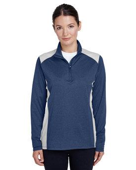 TT26W Team 365 Excel Mélange Interlock Performance Quarter-Zip Top