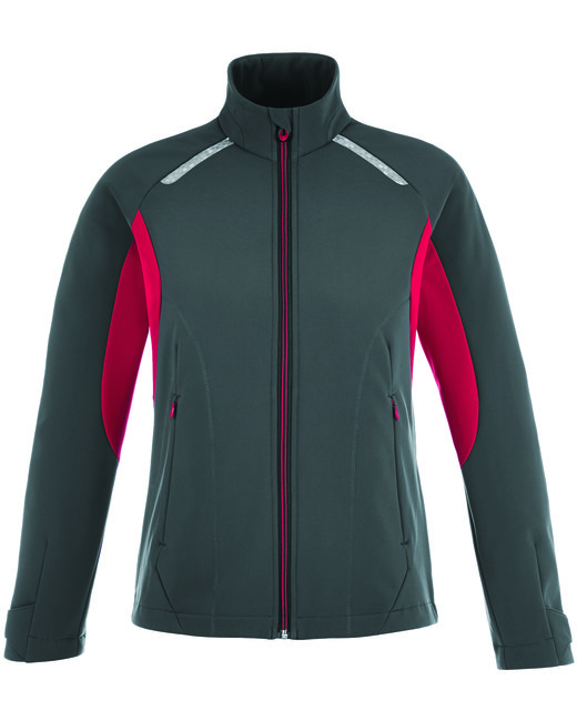 78693 North End Ladies' Excursion Soft Shell Jacket with Laser Stitch Accents