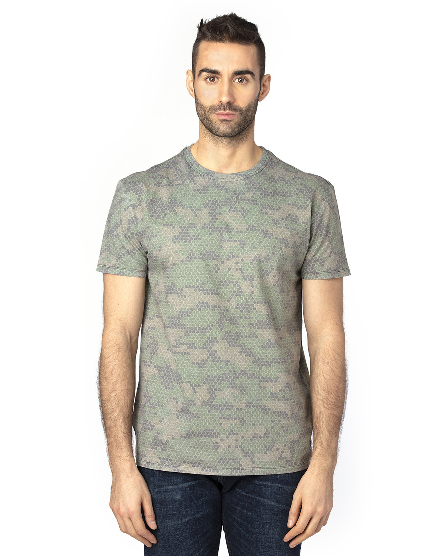 Threadfast Unisex Ultimate T-Shirt GREEN HEX CAMO