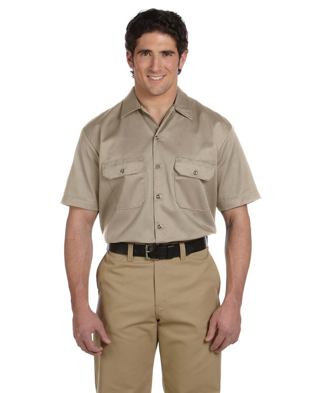 Dickies Men's 5.25 oz./yd² Short-Sleeve WorkShirt DESERT SAND