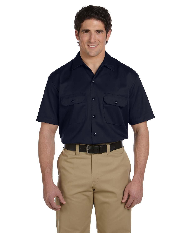 Dickies Men's 5.25 oz./yd² Short-Sleeve WorkShirt DARK NAVY