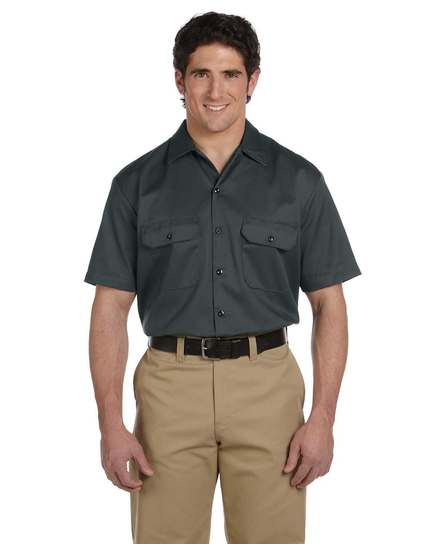 Dickies Men's 5.25 oz./yd² Short-Sleeve WorkShirt CHARCOAL