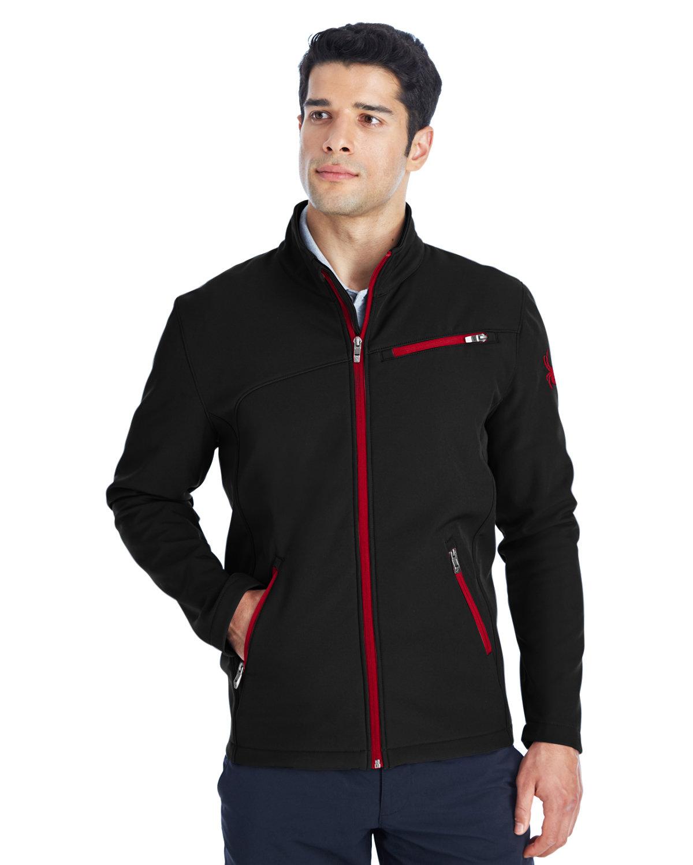 Spyder Men's Transport Soft Shell Jacket BLACK/ RED