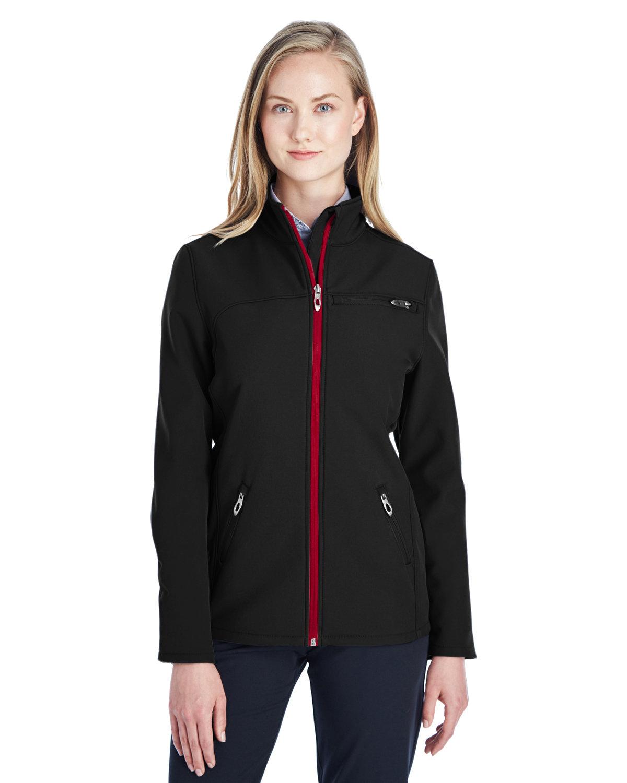 Spyder Ladies' Transport Soft Shell Jacket BLACK/ RED