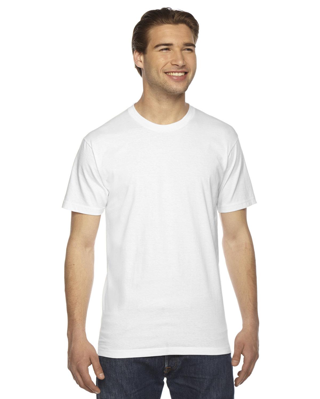 American Apparel Unisex Fine Jersey Short-Sleeve T-Shirt WHITE