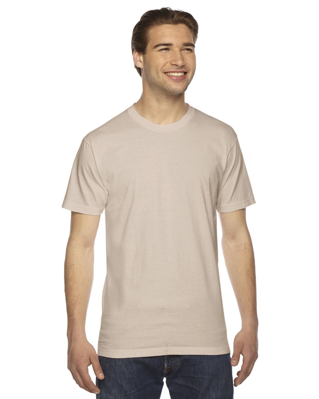 American Apparel Unisex Fine Jersey Short-Sleeve T-Shirt CREME