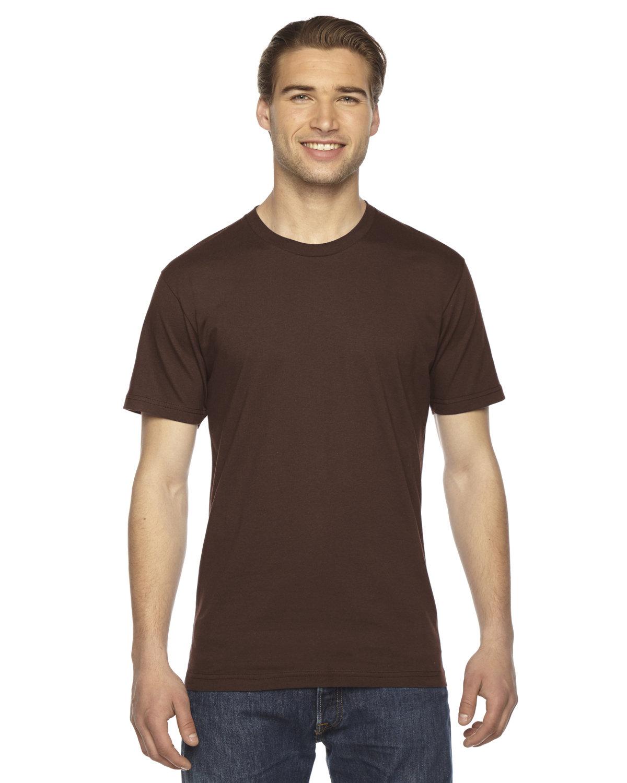 American Apparel Unisex Fine Jersey Short-Sleeve T-Shirt BROWN