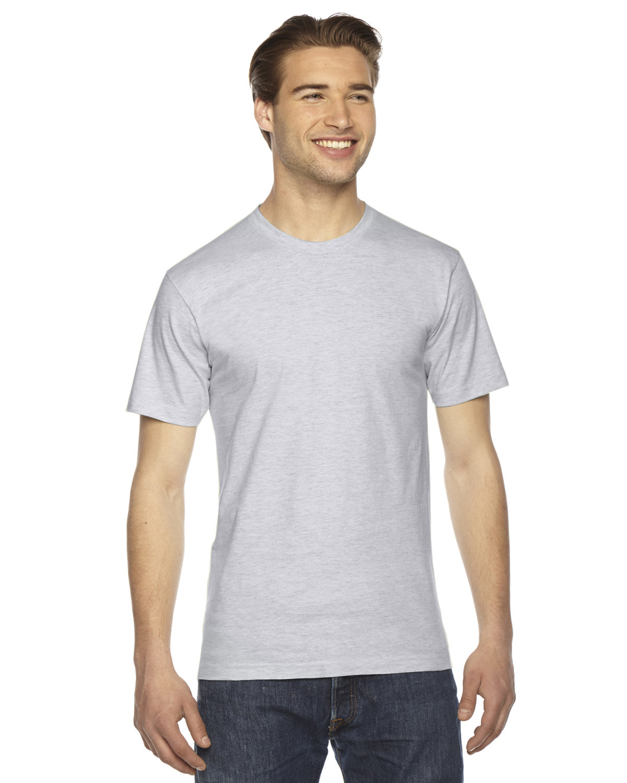 American Apparel Unisex Fine Jersey Short-Sleeve T-Shirt ASH GREY