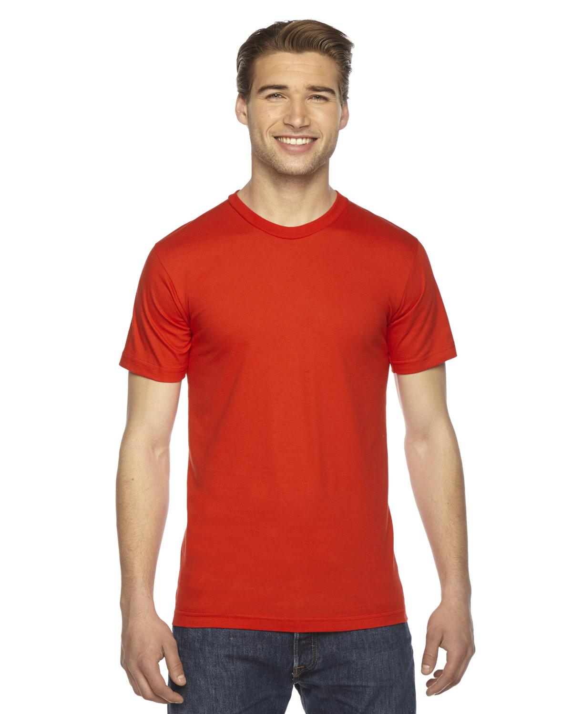 American Apparel Unisex Fine Jersey Short-Sleeve T-Shirt ORANGE