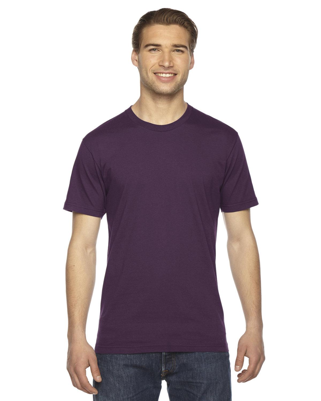American Apparel Unisex Fine Jersey Short-Sleeve T-Shirt EGGPLANT