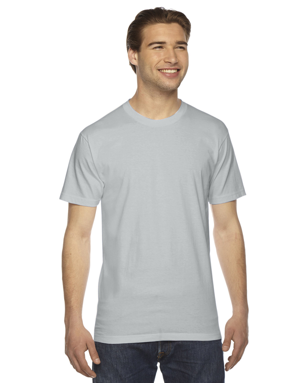 American Apparel Unisex Fine Jersey Short-Sleeve T-Shirt NEW SILVER