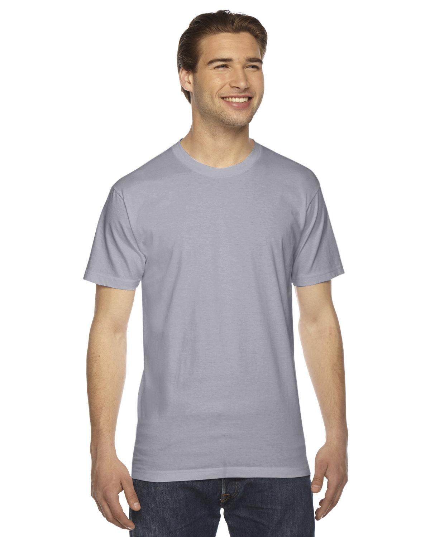 American Apparel Unisex Fine Jersey Short-Sleeve T-Shirt SLATE